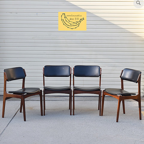 Erik Buch's design, Iconic dining chairs, 4 of them set