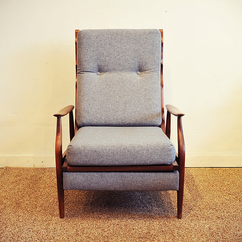 Vtg Mid Century Modern Recliner Chair Made in Canada by RS Associates