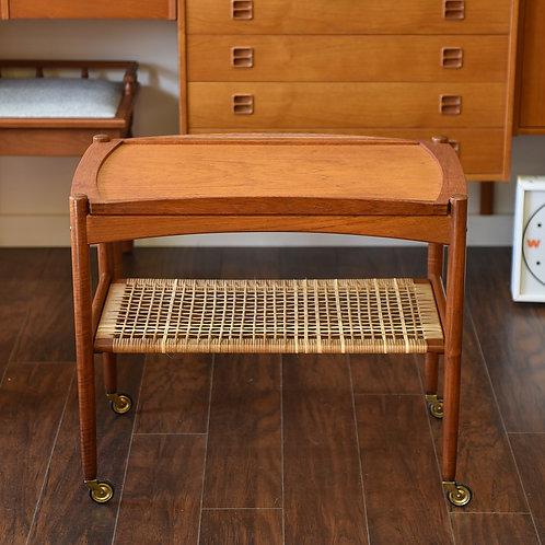 Danish Teak Removable Tray Tea Cart