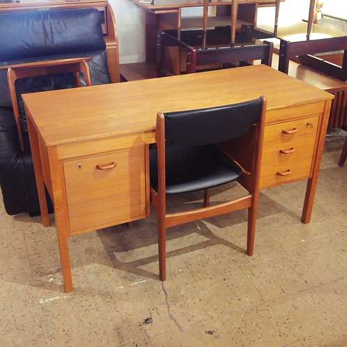 Vintage Teak Desk with matching chair