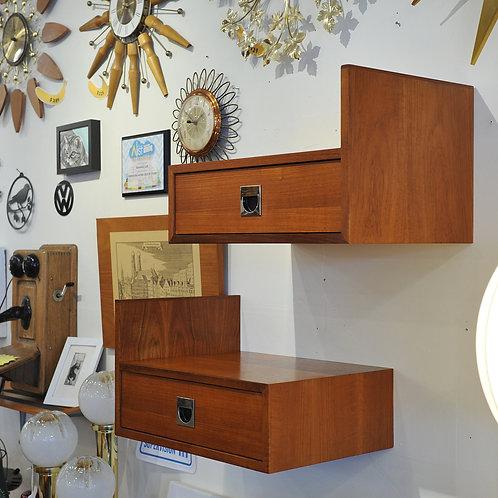 Vintage MCM Teak Floating Side Tables