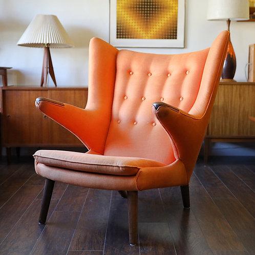 Original Danish Modern Papa Bear Chair by Hans Wagner for AP Stolen