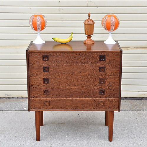 Danish Rosewood 5 drawers dresser
