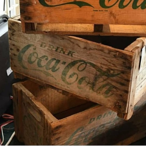 rare antique Coke crate