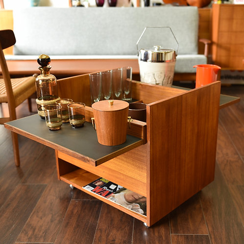 Danish Teak Cube Box Bar
