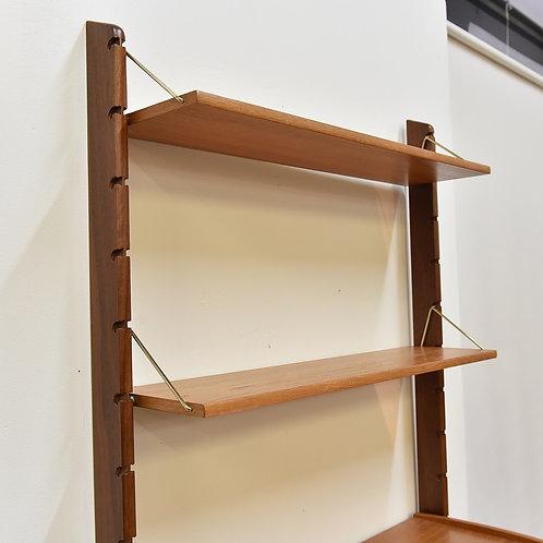 Unique teak standing modular wall unit
