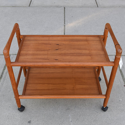 Vintage Teak Tea Cart Table
