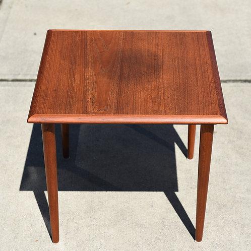 Restored Danish Teak Side Table