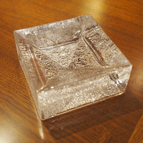 Vintage Square Glass Paper-Weight / Bowl
