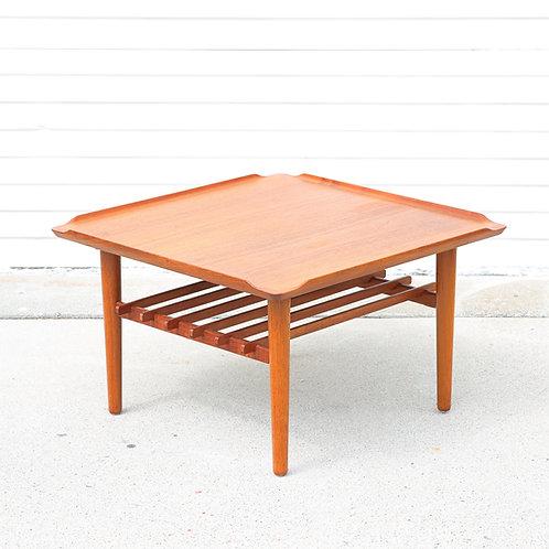 Danish MCM Teak Square Coffee Table by Holger Georg Jensen for Kubus