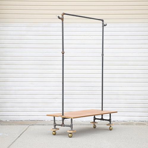 Industrial hanger, room divider on wheels