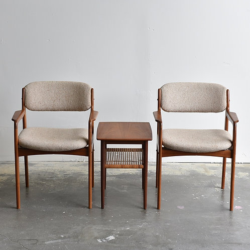 Pair of Mid-Century Modern Armchairs by Benny Linden