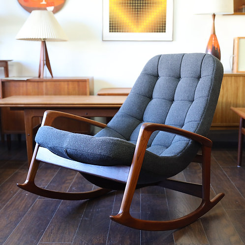 Vintage Canadian MCM Rocking Chair by R. Huber & Co.
