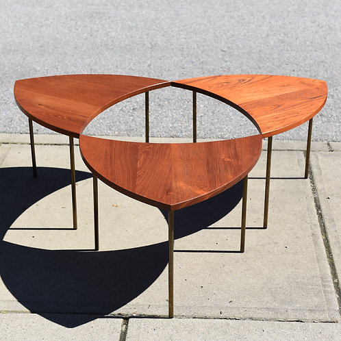 Danish Mid Century Modern Teak Peter Hvidt Segmented Table Model 523 for F&D