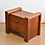 Thumbnail: 50%OFF, Vintage Teak Side Table with 2 Drawers