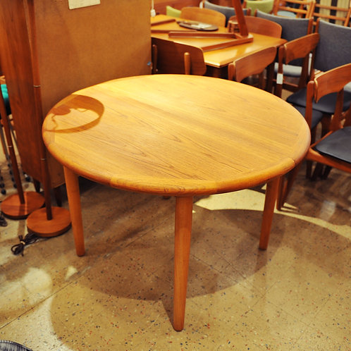 Danish Teak Dining Table with a Butterfly Leaf