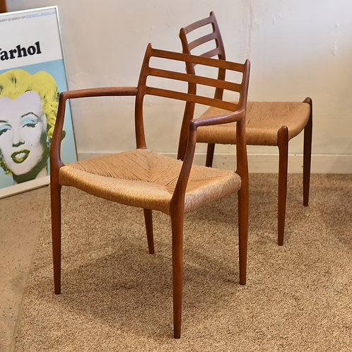 Danish Modern Chair Set by Niels O. Møller for J.L. Møllers Møbelfabrik