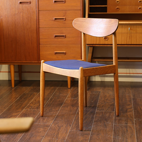 Single Vintage MCM Teak & Oak Side Chair
