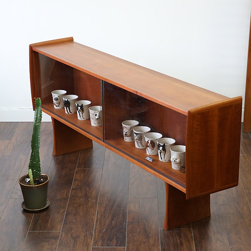 Fab Vintage Refinished Glass Cabinet