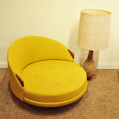 Round lounge chair by Adrian Pearsall for Craft Associate