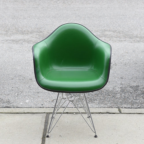 Vintage Eames Green Alexander Girard Naugahyde Armshell Chair