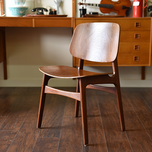 Pair of Danish Modern Occasional/Dining Teak Chairs by Borge Mogensen