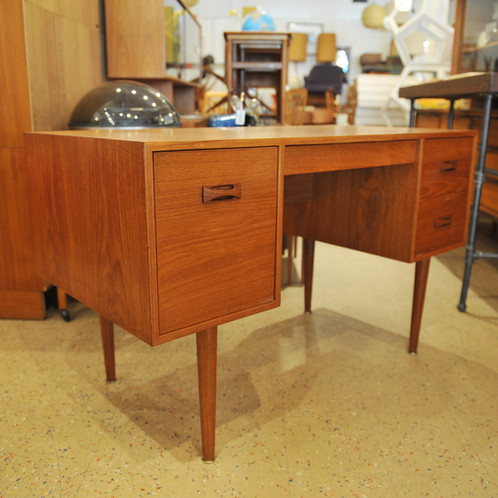 Mid Century Nice Teak Desk Made In Canada