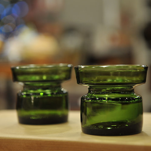 40%Off, Dansk Green Glass Candle Holders set of 4
