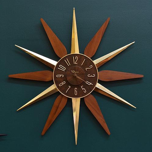 Vtg Atomic Starburst Wall Clock by Ingraham