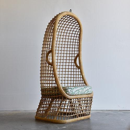 Vintage Rattan Accent Chair