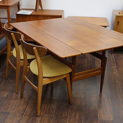 Danish Modern Teak Coffee & Dining Table By Kai Kristiansen