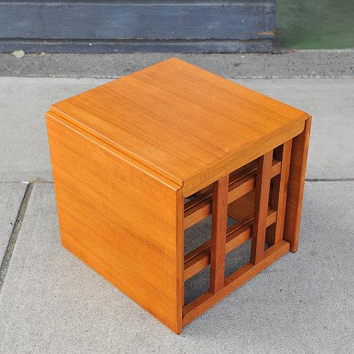 Danish Teak Cube Nest of Tables