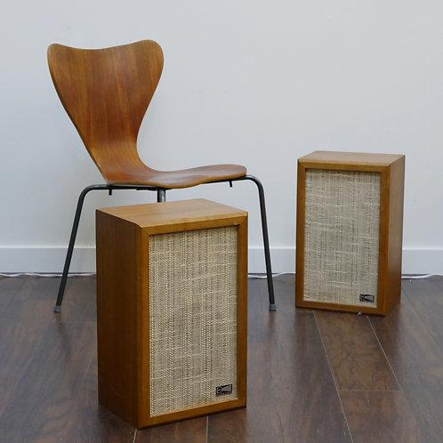 Pair of Vintage Walnut Pro-Linear Stage Three Speakers