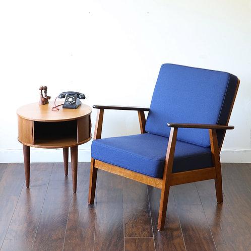Vintage MCM Teak & Oak Easy Chair