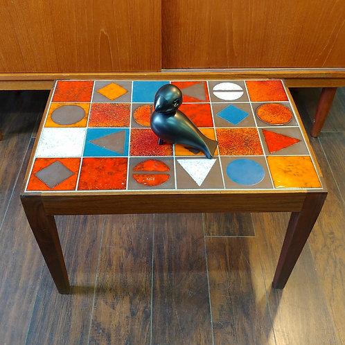 Vintage Tile Top Walnut Coffee Table
