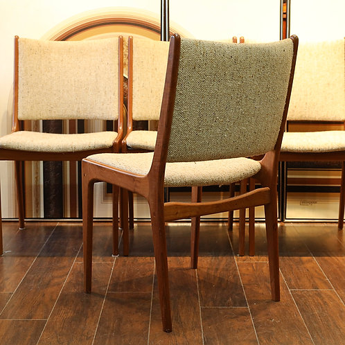 Set of 4, Vintage MCM Teak Dining Chairs