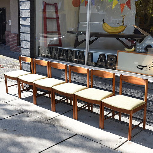 Vintage MCM 6 Dining Chairs by A.H. McIntosh