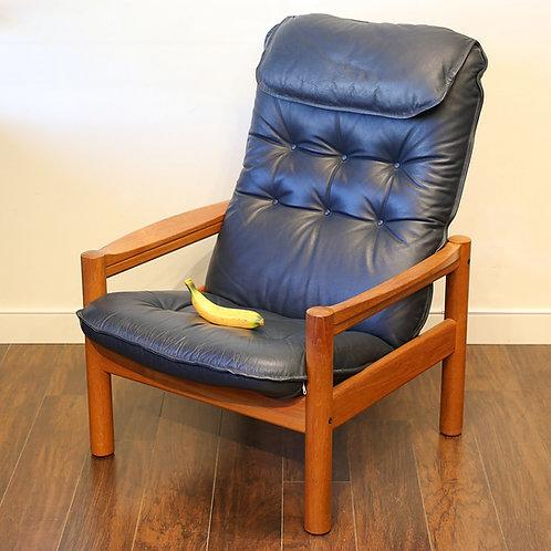 Vtg Danish Teak Lounge Chair by Domino Mobler