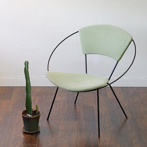 Vintage Jade Green Hoop Chair by John Hauser