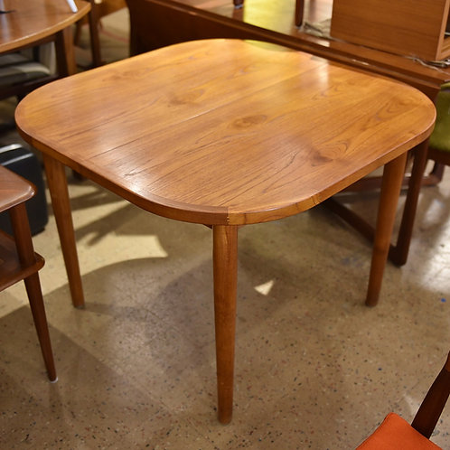 Practical Vintage Teak Dining Table with a Butterfly Leaf