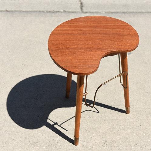 Danish Modern Teak Side Table with Ashtray & Magazine Holder
