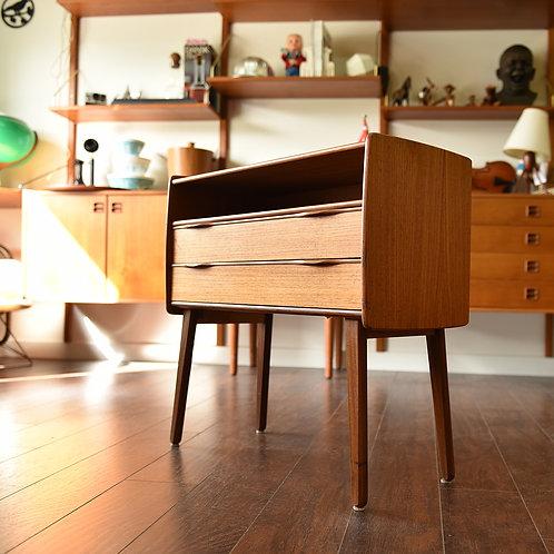 Danish teak dresser/bed side table/table/cabinet