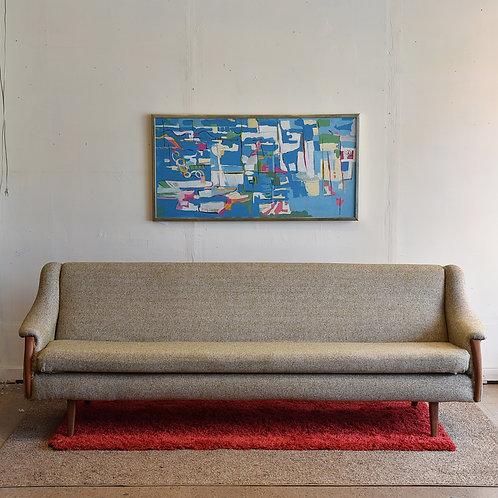 Vintage MCM 4 Seat Sofa