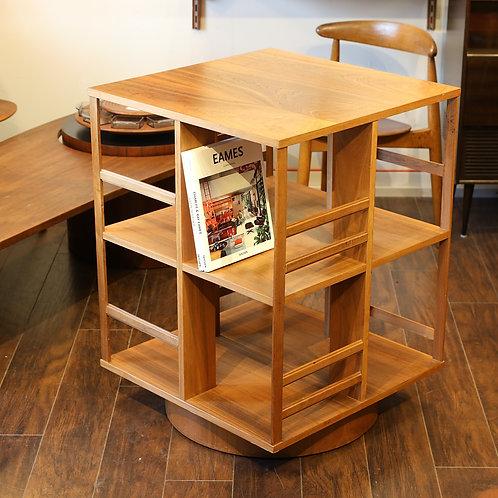 Vintage Walnut Revolver Bookshelf / Display Unit