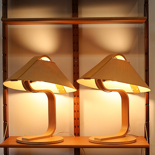 Pair of Vintage Bentwood Table Lamps