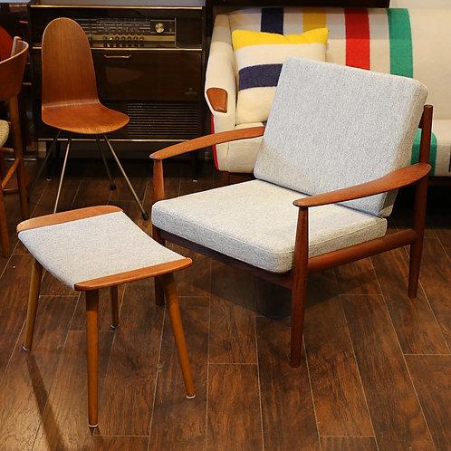 Danish Modern Teak Lounge Chair by Grete Jalk for France & Son