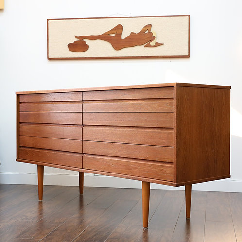 Vintage MCM Teak 6 Drawers Dresser