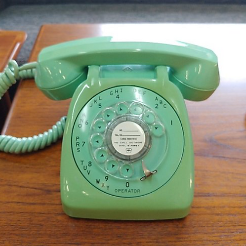 Mint condition, Mint coloured rotary working phone