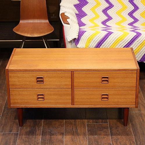 Danish Teak Low Profile Dresser