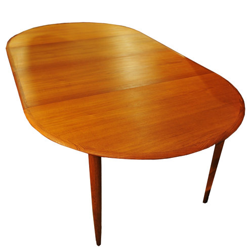 Mid Century Modern Teak Dining Table with 2 leaves